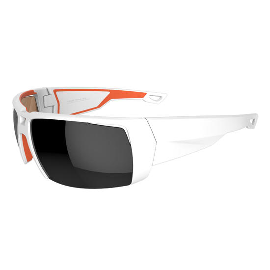Kitesurfbril Kitesurf 700 voor volwassenen, wit en oranje, polariserend cat. 4 - 1096171