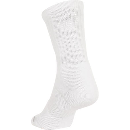 High Tennis Socks RS 500 Tri-Pack - White