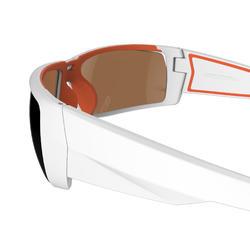 Kitesurfbril Kitesurf 700 voor volwassenen, wit en oranje, polariserend cat. 4 - 1096230