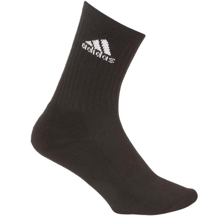 Hoge tennissokken Adidas blauw/zwart/grijs set van 6
