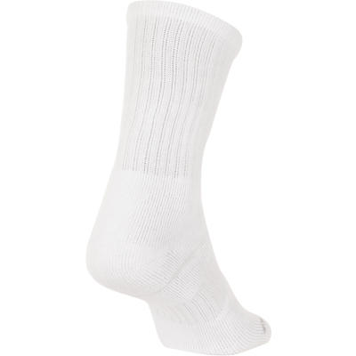 مجموعة من ثلاث جوارب رياضية طويلة للكبار - لون أبيض