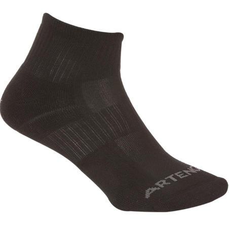 RS 500 Mid-High Tennis Socks Tri-Pack - Black