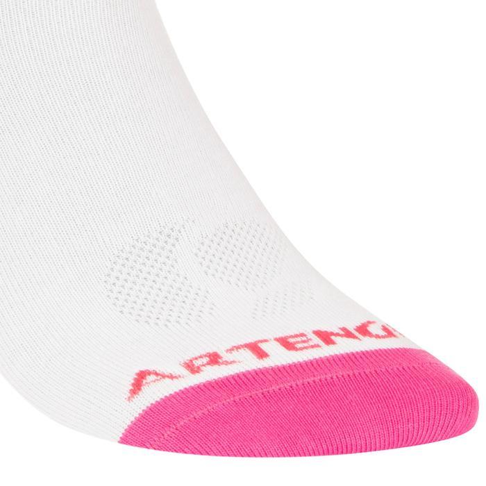 Halfhoge sportsokken voor volwassenen Artengo RS 160, wit/roze, set van 3 paar
