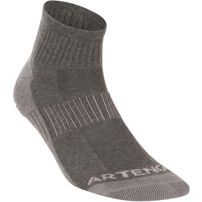 RS 500 Adult Mid Sports Socks Tri-Pack - Mottled Grey