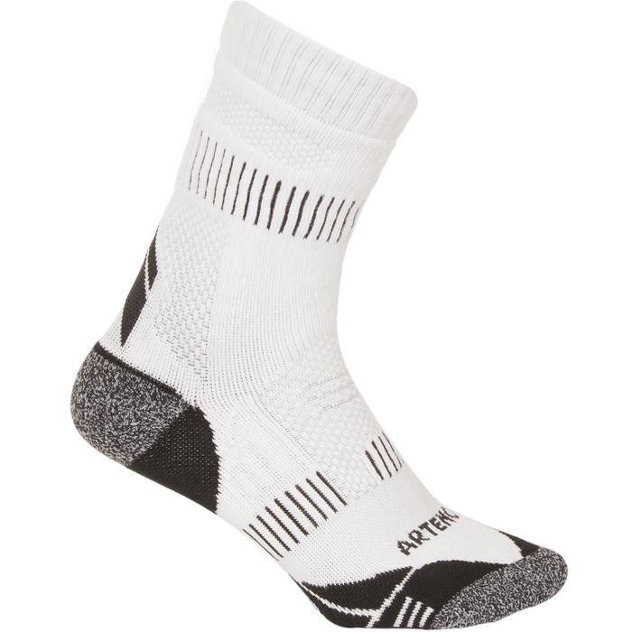 CALCETINES DE DEPORTE LARGOS ARTENGO RS 900 BLANCO GRIS LOT DE 3