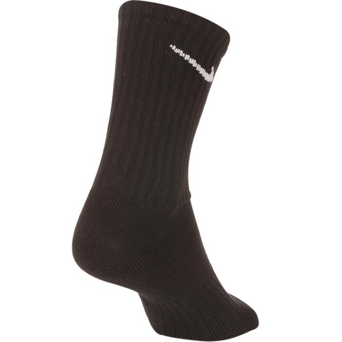 Hoge zwarte sportsokken voor tennis Nike 3 paar