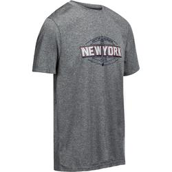 Fast New York Intermediate Basketball T-Shirt - Grey