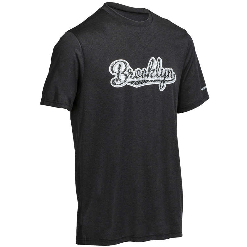MAN BASKETBALL OUTFIT Basketball - FAST Brooklyn T-Shirt Black TARMAK - Basketball Clothes