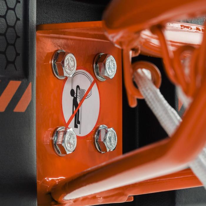 Panneau de basket B300 noir orange pour enfant et adulte à fixer au mur. - 1096919