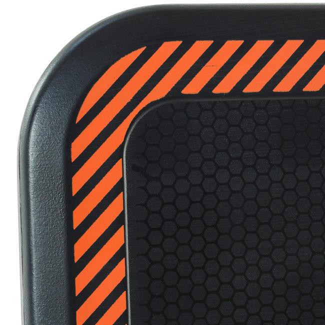 B300 Kids'/Adult Wall-Mounted Basketball Basket Set - Black/Orange