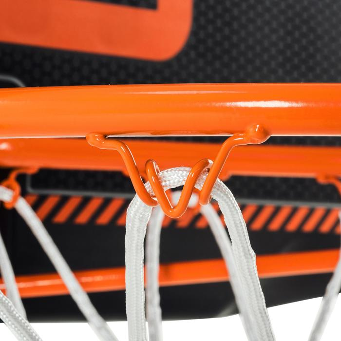 Basketbalbord set B300 zwart oranje voor kinderen en volwassenen muurbevestiging