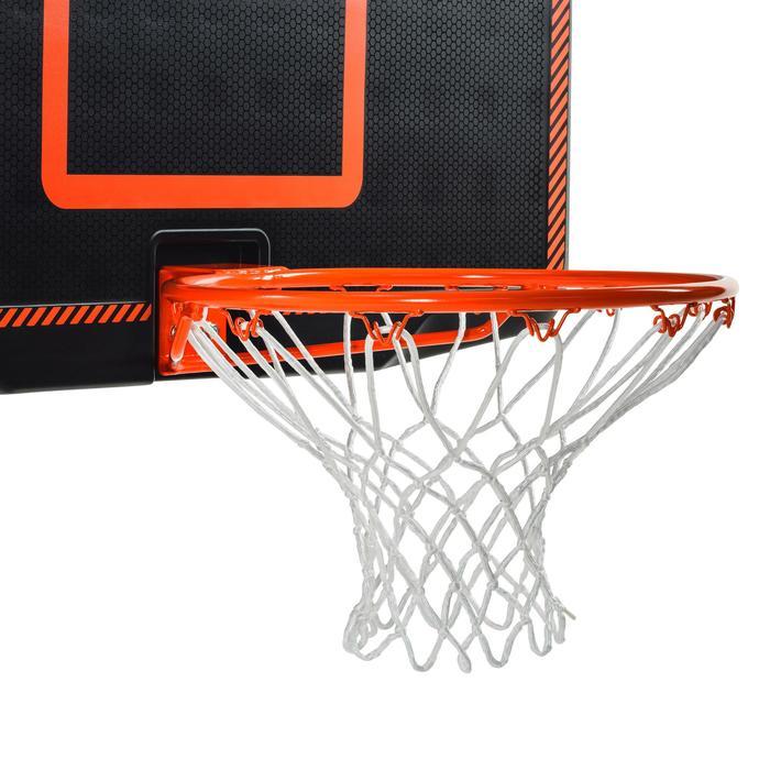 Panneau de basket B300 noir orange pour enfant et adulte à fixer au mur. - 1096925