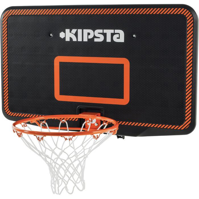 Panneau de basket B300 noir orange pour enfant et adulte à fixer au mur. - 1096926
