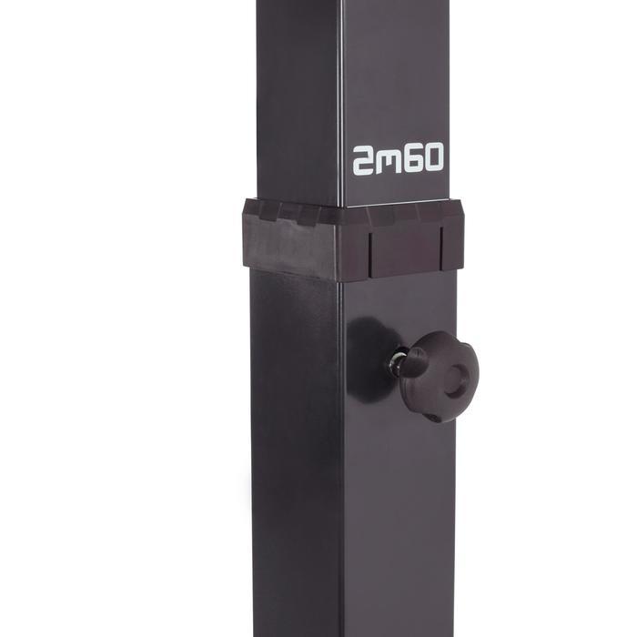 Panier de basket enfant/adulte B400 EASY noir rouge. 2,40m à 3,05m sans outils. - 1097008
