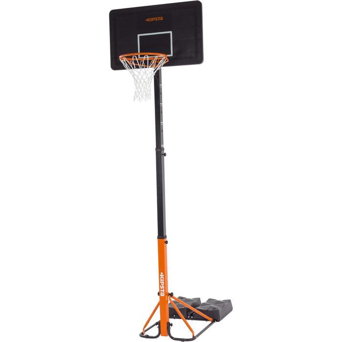 Panier de basket enfant/adulte B400 EASY noir rouge. 2,40m à 3,05m sans outils. - 1097020