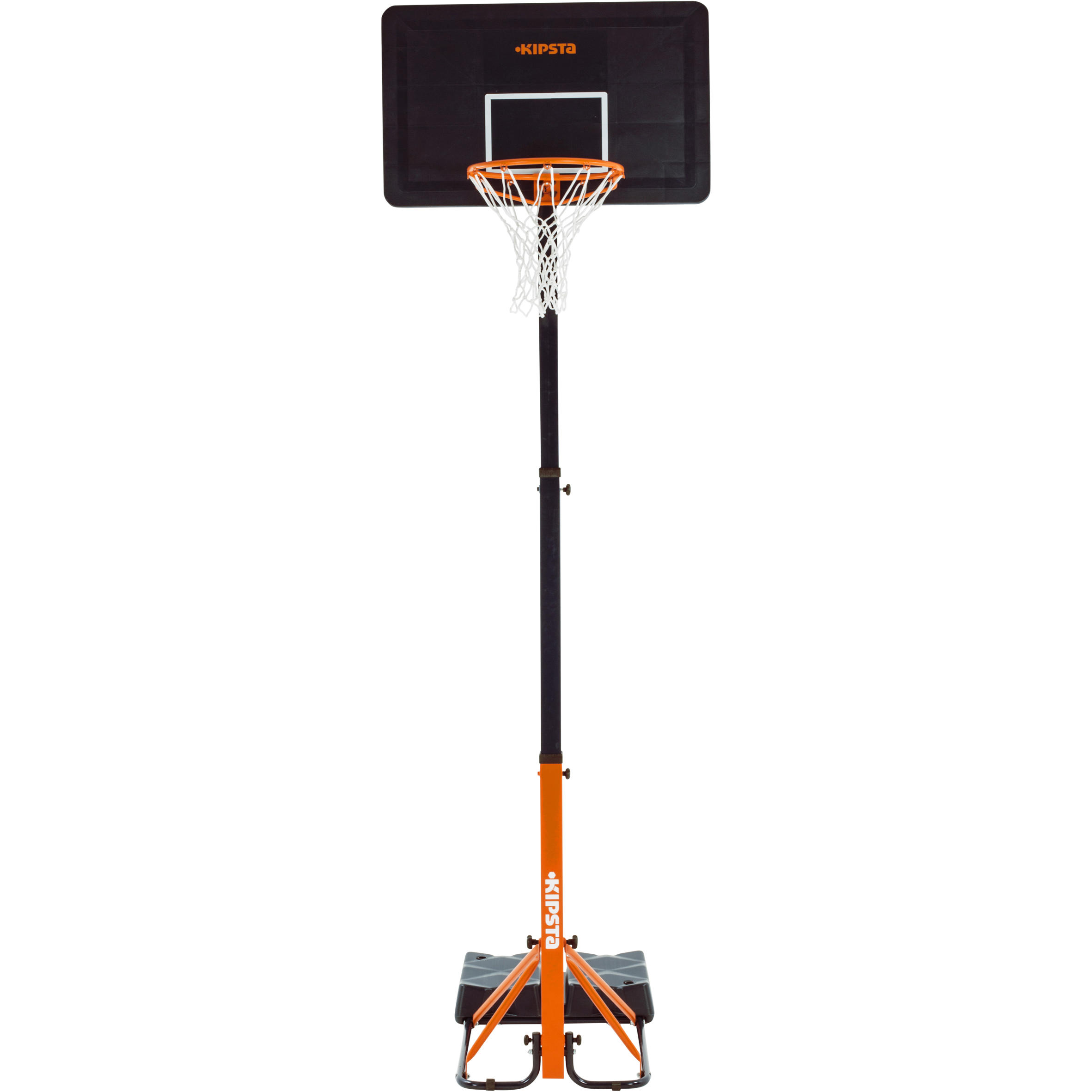 Tarmak Basketbalpaal kinderen/volwassen B400 Easy blauw/oranje. 2,40 tot 3,05 m.