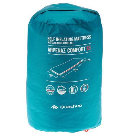 Matelas autogonflant de camping arpenaz comfort 65 1 pers quechua - Decathlon matelas autogonflant ...