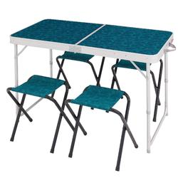 Camping table for 4 people with 4 seats