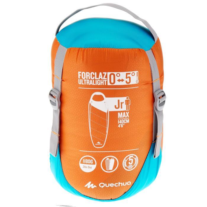 Schlafsack Kinder Forclaz 0°/5°C Ultralight orange/blau