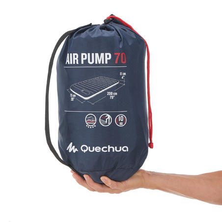 INFLATABLE CAMPING MATTRESS - AIR PUMP 70 CM - 1 PERSON