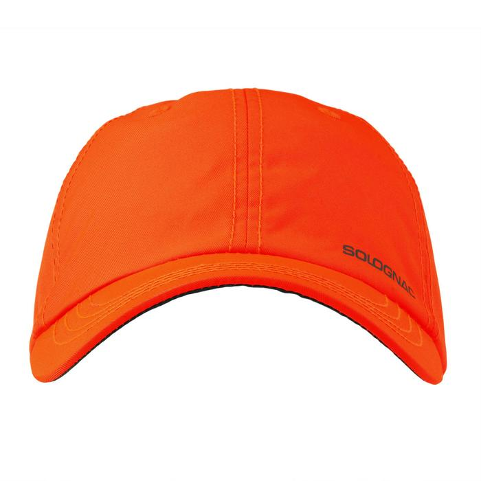Gorra Caza Solognac Bgp 100 Naranja Fluo