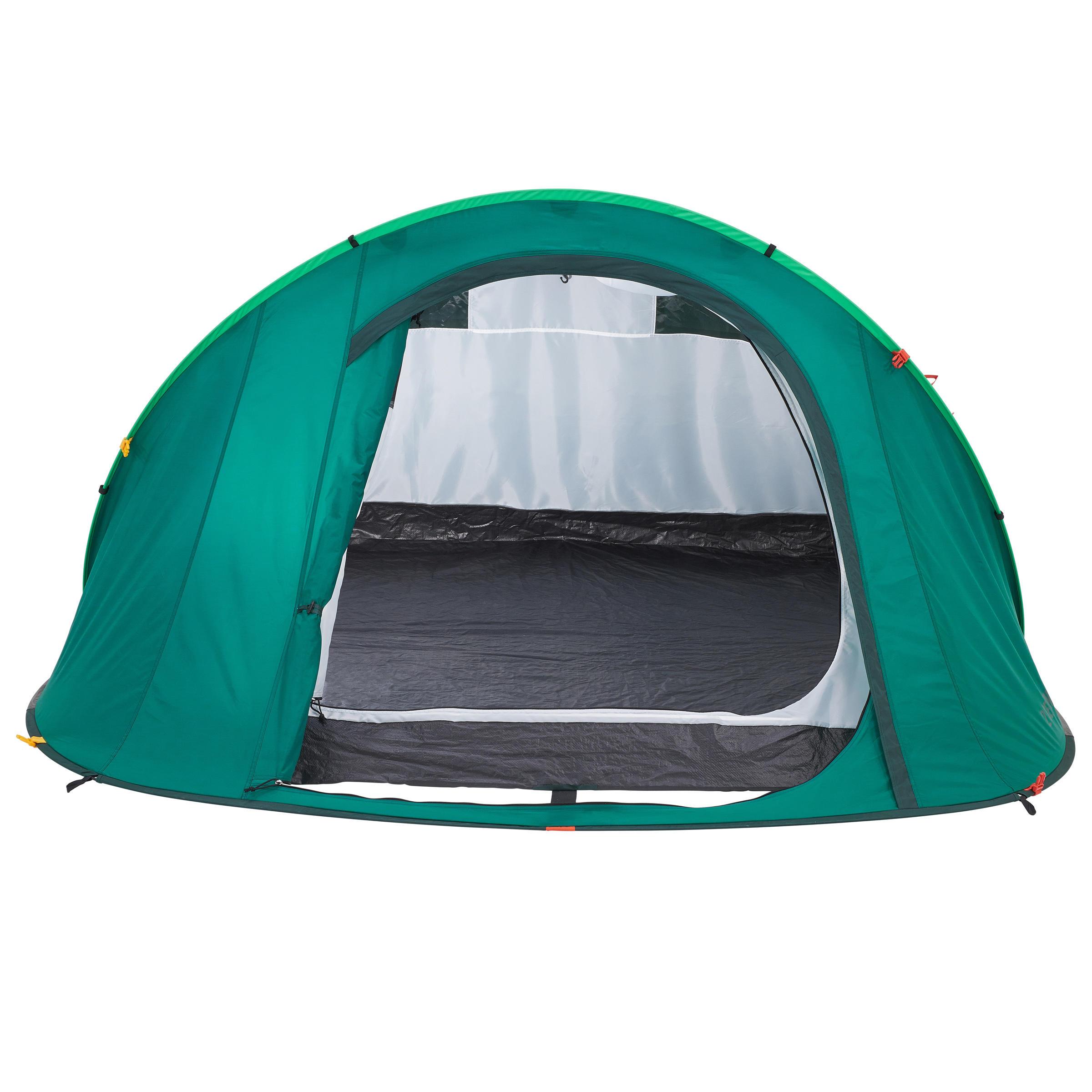 2 SECONDS Camping Tent - 3-Man - Green