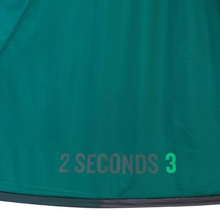 TENTE DE CAMPING 2 SECONDS - VERTE - 3 PERSONNES