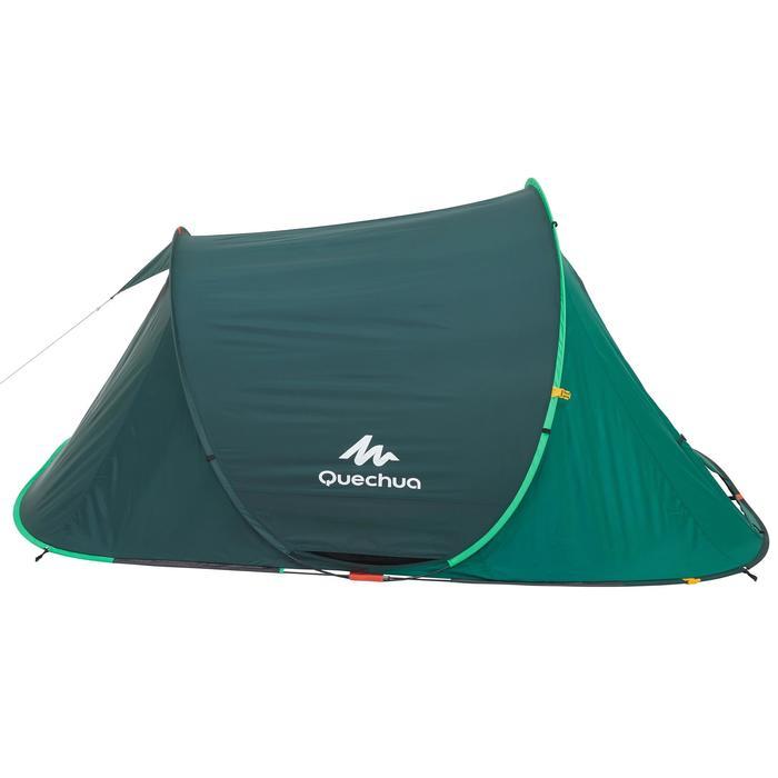 Tente de camping 2 SECONDS | 3 personnes verte
