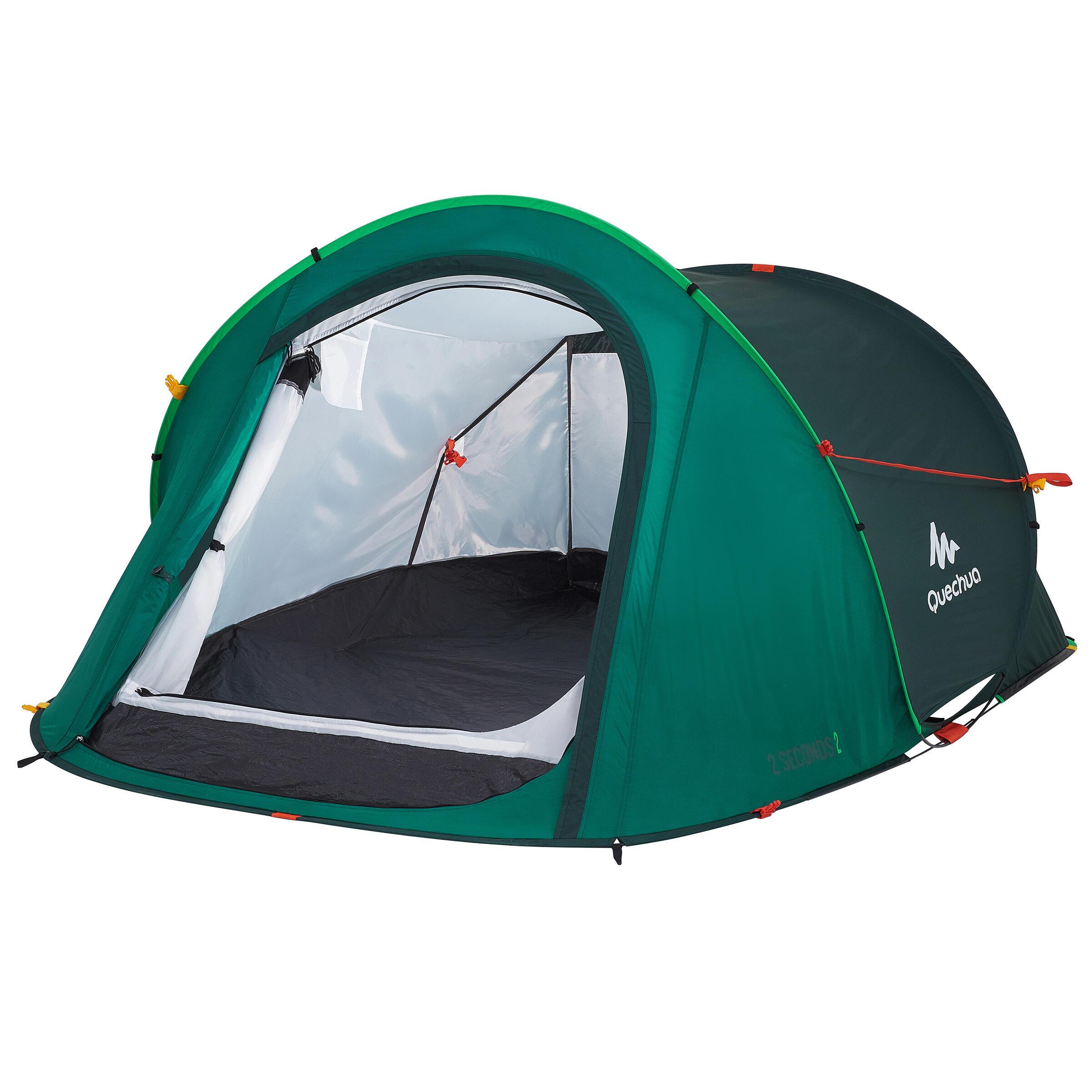 Zelt für 2 Personen Camping 2 Seconds grün | 03608439523519