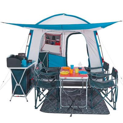 Carpa para Camping Plegable Habitáculo Quechua Arpenaz Base M 6 Personas UPF30