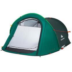 Tente de camping 2 SECONDS | 2 personnes verte