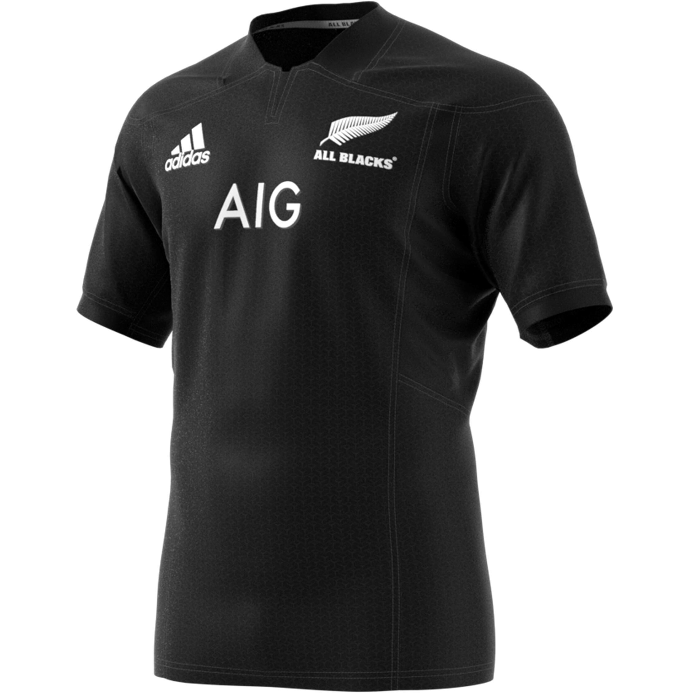 Rugbytrikot Replica Neuseeland 2016 2018 Erwachsene schwarz | Sportbekleidung > Trikots > Sonstige Trikots | Schwarz | Adidas