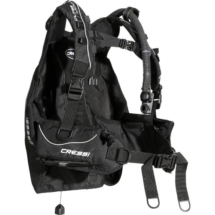 Gilet stabilisateur de voyage plongée bouteille Ultralight noir - 1097947