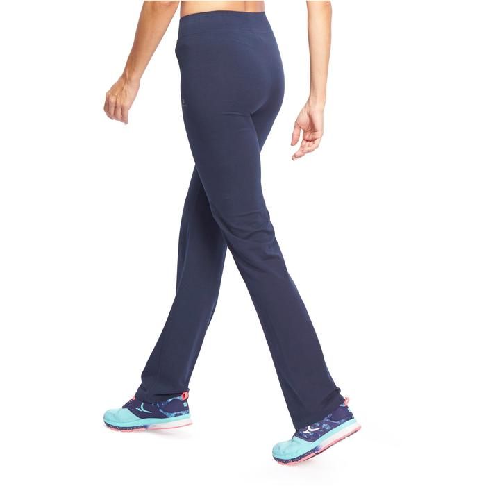 Leggings Fit+ 500 Regular Gym Stretching Damen marineblau