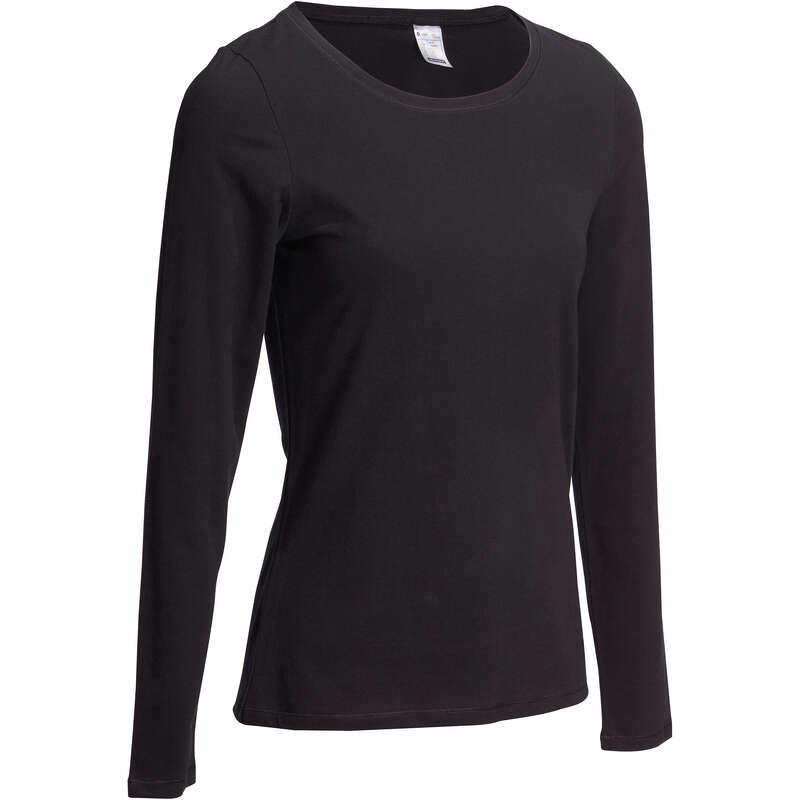 WOMAN T SHIRT LEGGING SHORT Clothing - Women's Gym T-Shirt 100 Black DOMYOS - Tops