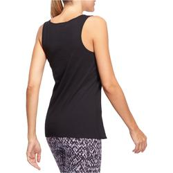 Tank-Top 100 Gym & Pilates Damen schwarz