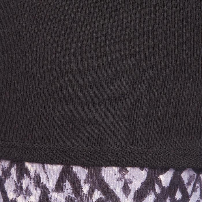 Camiseta sin mangas 100 Pilates y Gimnasia suave mujer negro
