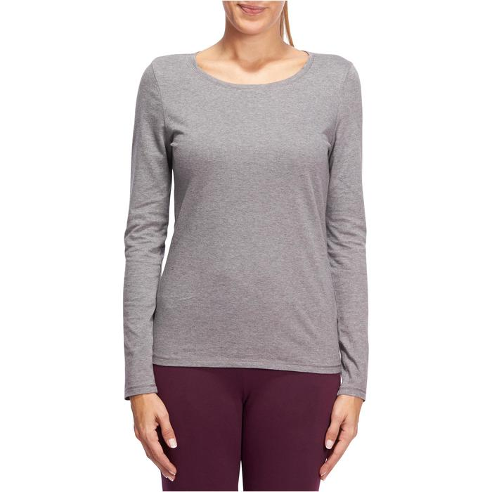 T-Shirt 100 manches longues Gym Stretching femme - 1098138