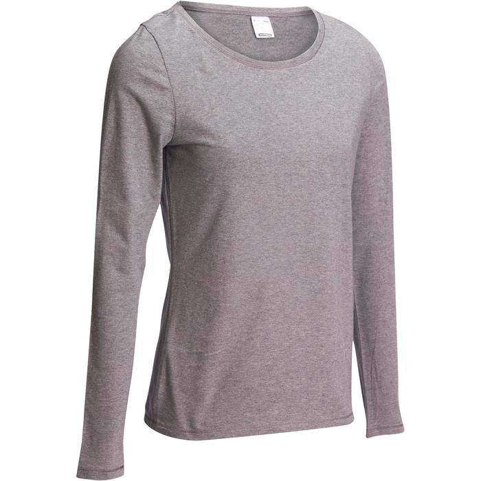 T-Shirt 100 manches longues Gym Stretching femme - 1098194