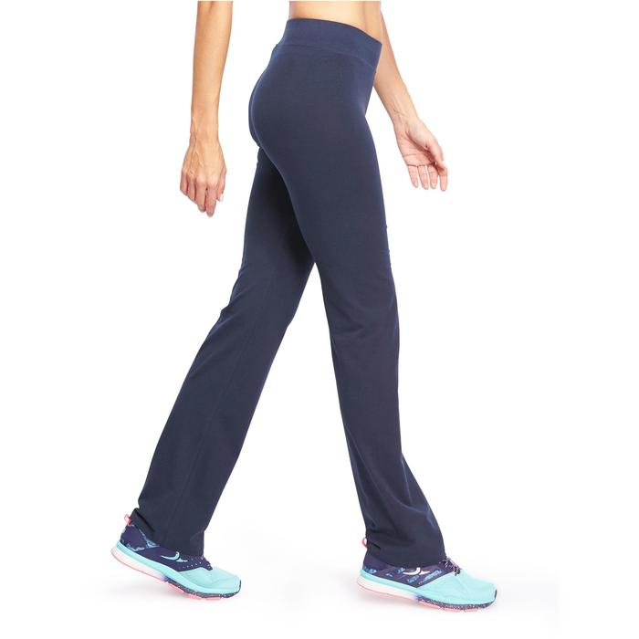 Mallas Gimnasia Pilates Domyos FIT+500 Regular Mujer Azul