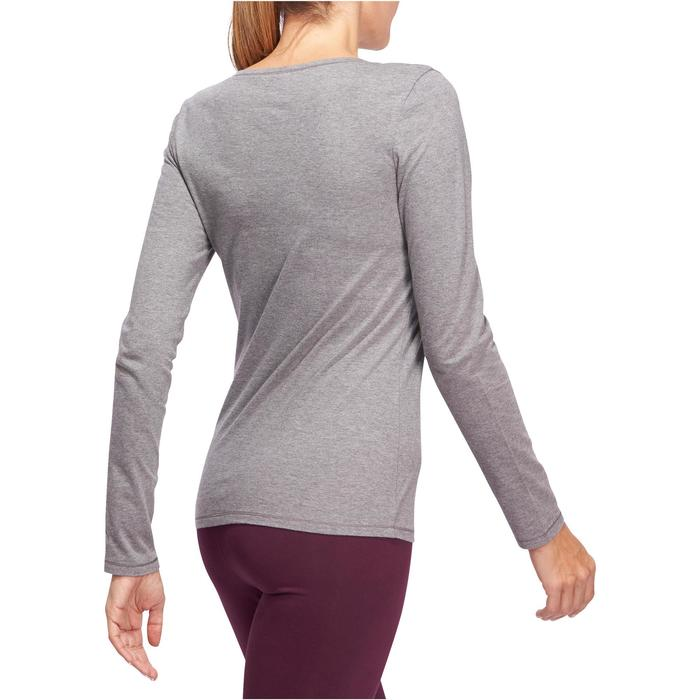 T-Shirt 100 manches longues Gym Stretching femme - 1098317