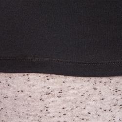 T-shirt Manches Longues 100 Femme Noir