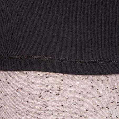 Жіноча футболка 100 для пілатесу і легкої гімнастики з довгим рукавом - Чорна