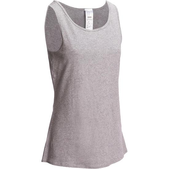 Tanktop gym & pilates dames felroze - 1098342