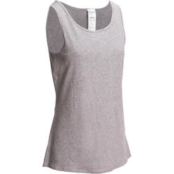 Women's Gym Tank Top Stretch Slim Fit 100 - Mottled Grey