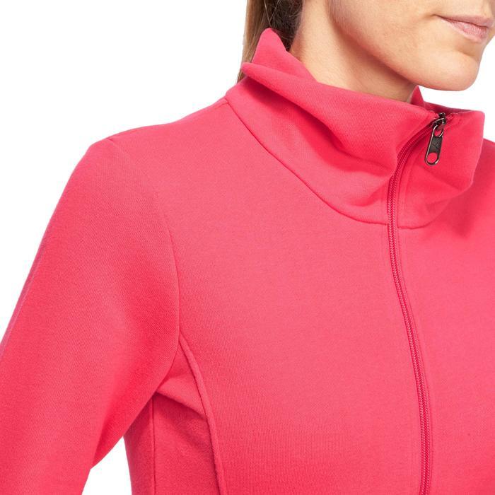 Veste 500 Gym & Pilates femme sans capuche zippée - 1098358