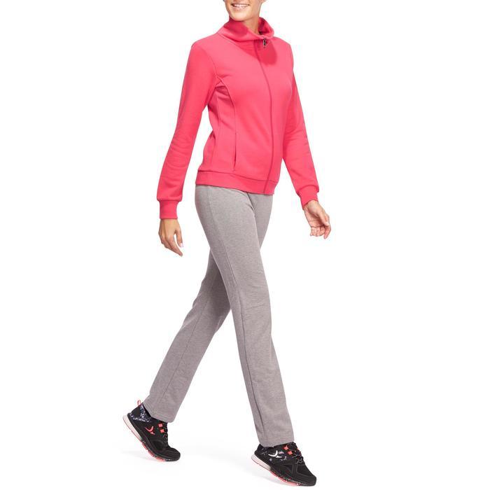 Veste 500 Gym & Pilates femme sans capuche zippée - 1098362
