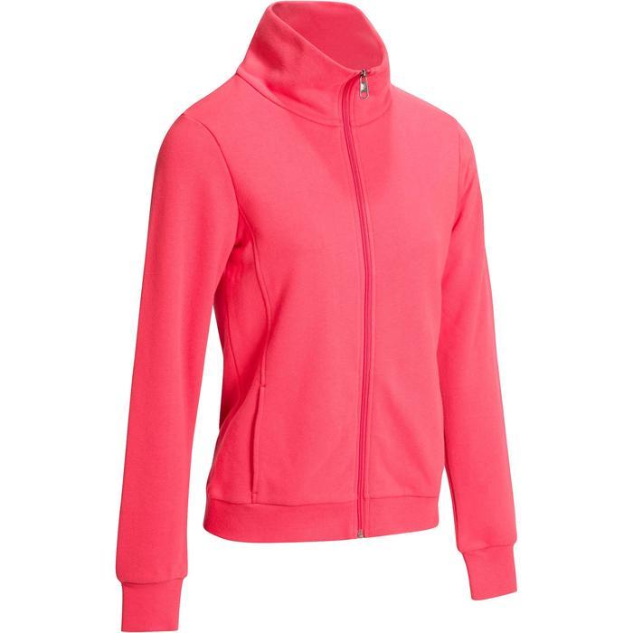 Veste 500 Gym & Pilates femme sans capuche zippée - 1098364