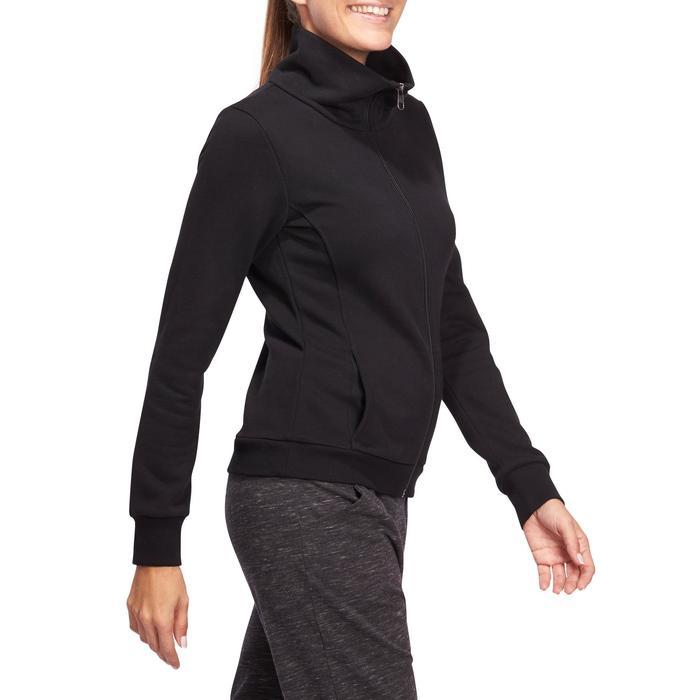 Veste 500 Gym & Pilates femme sans capuche zippée - 1098379