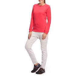 Sweater met ronde hals gym en pilates dames - 1098392